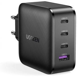 Ugreen Cargado GaNPower 65W con tres puertos USB-C y USB tipo A