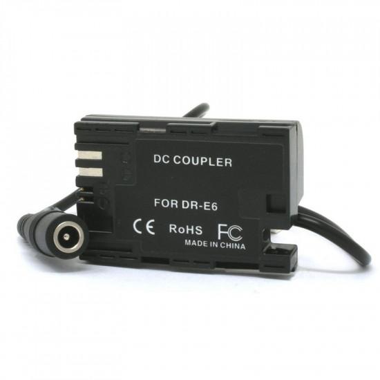 Wasabi ACK-LPE6 Adaptador AC para Canon LP-E6 (dummy)