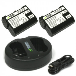 Wasabi Kit 2 Baterías EN-EL15 para Nikon DSLR Camera
