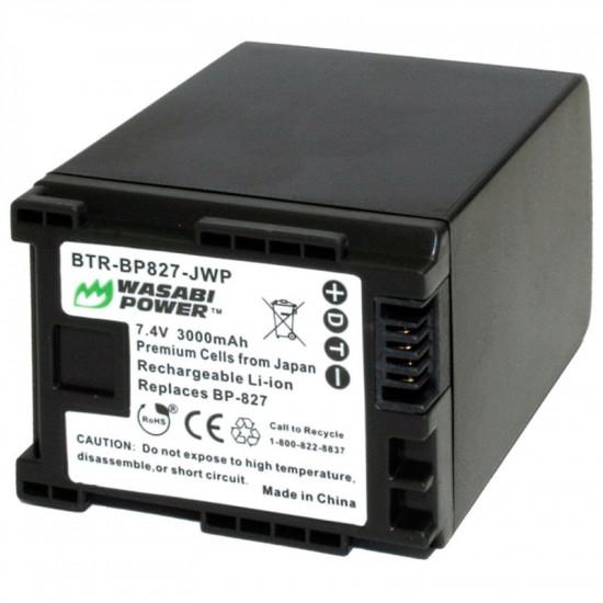 Wasabi BP-827 Batería para Canon Video compatible BP-827