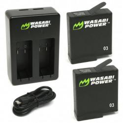 Wasabi Hero5 / Hero6  2 Baterías y Cargador para GoPro HERO5 / 6