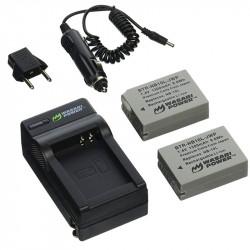 Wasabi Kit NB10L 2 Baterías y cargador AC para Powershot