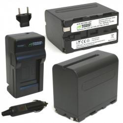 Wasabi Kit F960 2 Baterías Serie L y cargador AC
