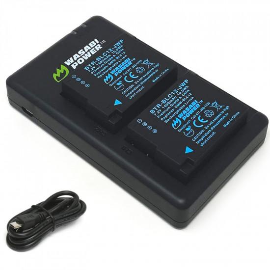 Wasabi KIT-FC-BLC12 2 Baterías y Cargador Dual para Panasonic
