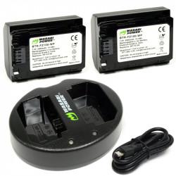 Wasabi A9 A7R y A7III  2 Baterías y Cargador Dual USB  NP-FZ100