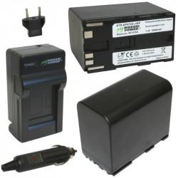 Wasabi Kit BP970 2 Baterías Serie BP Canon y cargador AC