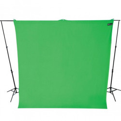 Wescott Tela  / Telón para BackDrop 2,7m ancho x 3 m largo Verde Chromakey (Solo tela no incluye atriles)