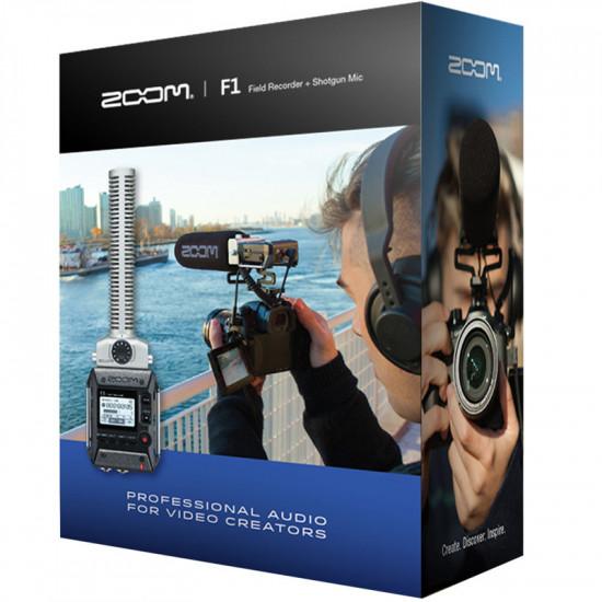 Zoom F1 Grabadora de Campo + Micrófono tipo Boom