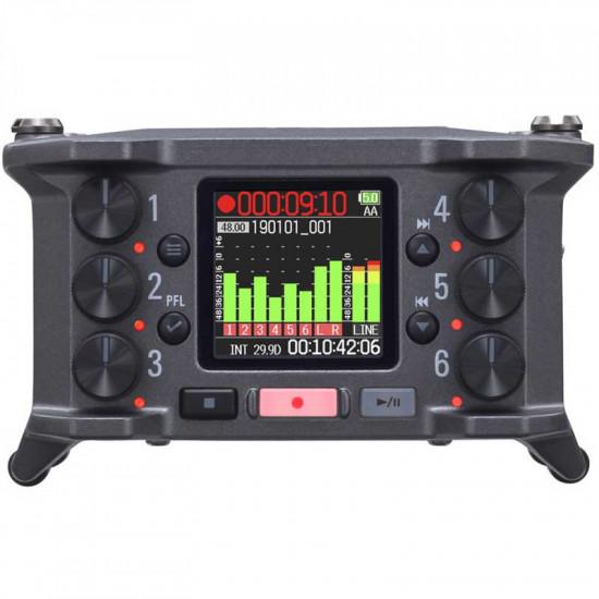 Zoom F6 Grabador Audio 6 Entradas / 14 Canales Multi Track 32-Bit Float Recording