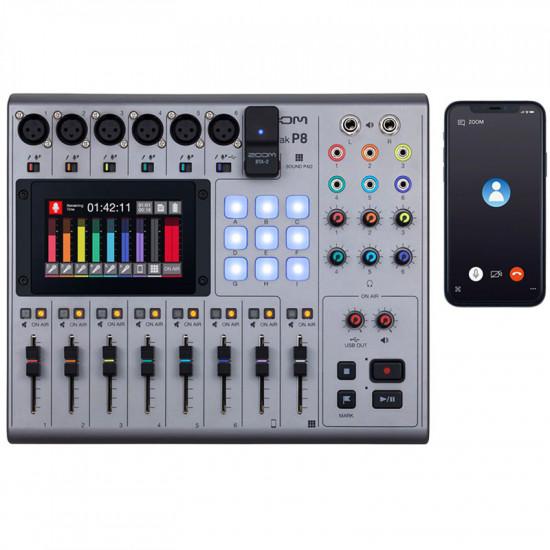 Zoom PodTrak P8 Grabador Podcasts Multipista
