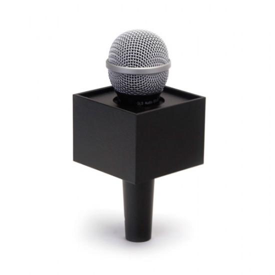 """Benchmark R325250B Portalogo """"Micflag"""" Negro Rectangular para Micrófono de mano 8,25cm x 6,35cm"""