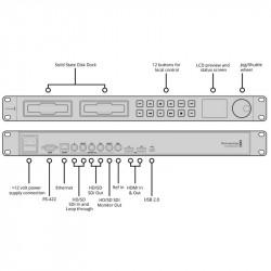Blackmagic Design HyperDeck Studio2  Grabador de Video 4:2:2 SDI/HDMI