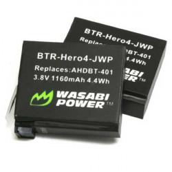 Wasabi HERO4 2 Baterías Compatibles para la GoPro HERO4