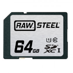 Hoodman SDXC64GB Tarjeta de Memoria RAW STEEL SDXC Clase 10 + UHS-1de 64GB (90mb/s) 600X