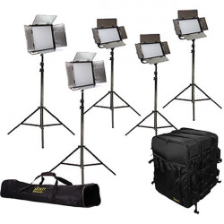 Ikan Kit Chroma Led Studio 5 Luces Bi Color con V-Mount