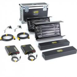 Kino Flo Interview Kit 4Bank 2-Light Kit  230U con maleta