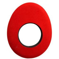 Blue Star 90132 Oval Large de Microfibra Eyecushion Rojo