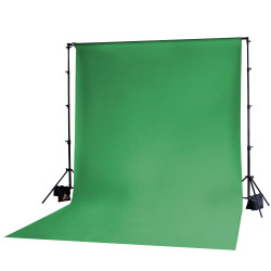 Photoflex Tela  / Telón para BackDrop 3m ancho x 6 m largo Verde Chromakey (Solo tela no incluye atriles)
