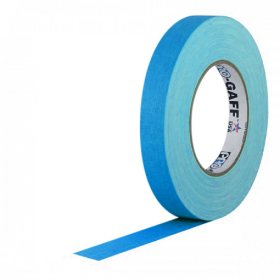 "Protapes PG1FBLU Gaffer Mate Original en 2,54cm / 1 "" de ancho AZUL Fluorescente"