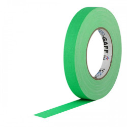 "Protapes PG1FLGREEN Gaffer Mate Original en 2,54cm / 1 "" de ancho VERDE Fluorescent"