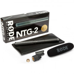 Rode NTG-2 Shotgun Micrófono Boom Multi Powered