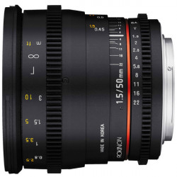Rokinon Lente DS Cine 50mm T1.5 para EF Canon